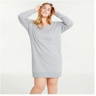 Joe Fresh Women+ Cashmere-Blend Sweater Dress, Fuchsia (Size 2X)