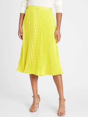 Banana Republic Pleated Midi Skirt