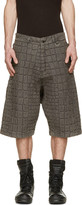 Kokon To Zai Grey Denim Croc Washed Shorts