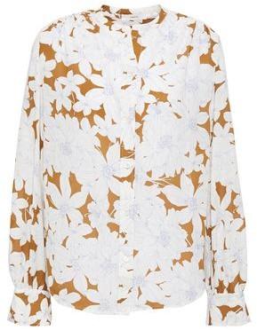 Vince Floral-print Crepe Shirt