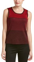Anne Klein Women's Color Block Lurex Sweater Tank