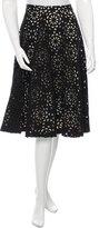 Alice + Olivia Knee-Length Cutout Skirt