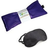Eye Mask For Puffy Eyes, Dark Circles, Sleeping and Stress Relief - Hot Cold Therapy Eye Pillow Also Used For Headaches, Migraines & Sinus Pain. (1 Eye Pillow, Calm Purple)