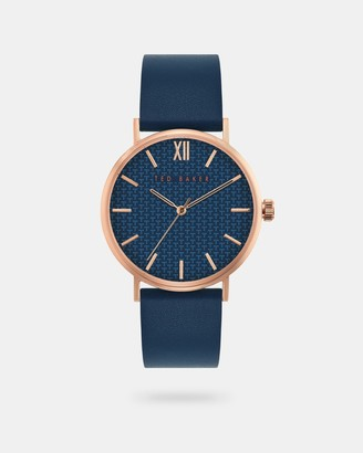 Ted Baker FHILIN Leather strap watch