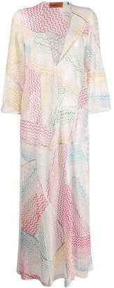 Missoni Mare Wave Pattern Beach Dress
