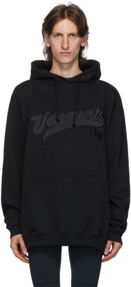 Vetements Black Hip Hop Script Hoodie