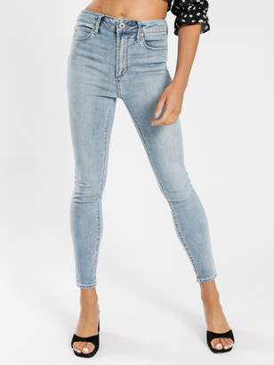 Articles of Society High Lisa Skinny Ankle Hug Jeans in Distressed Blue