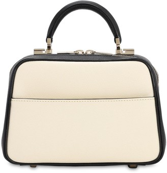 Valextra SERIE S SMOOTH LEATHER BICOLOR BAG