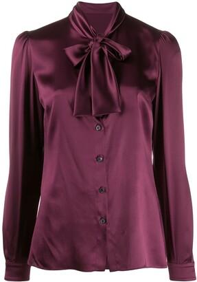 Dolce & Gabbana Satin Tied Blouse