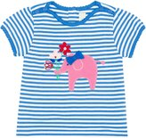 Jo-Jo JoJo Maman Bebe Pretty Ele Tee (Toddler/Kid) - Blue/White Stripe-4-5