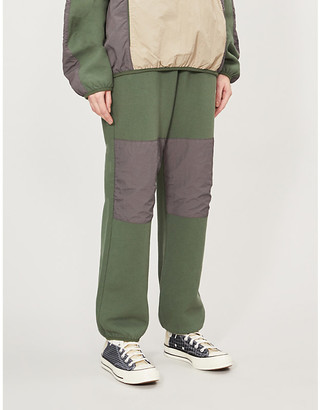 Stussy Division Contrast cotton-jersey tapered jogging bottoms