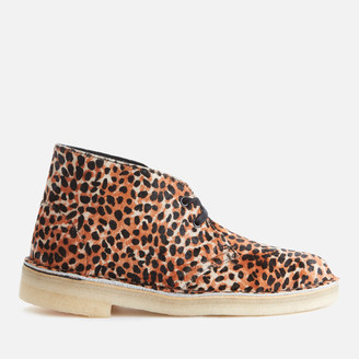 Clarks Women's Pony Hair Desert Boots - Leopard Print