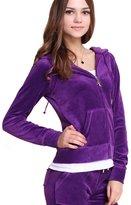 Gesdy Women's Active Soft Zip Up Velvet Hoodie Jacket