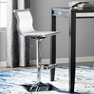 Wade Logan Bartow Swivel Adjustable Height Stool Upholstery: White