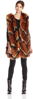 Tracy Reese Women's Contrast Foxy Fur Vest
