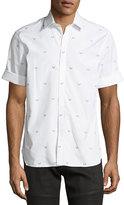 Neil Barrett Military Arrow Short-Sleeve Cotton Shirt
