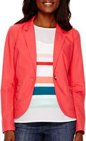 Liz Claiborne Long-Sleeve Teaberry Blazer - Tall