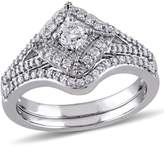 Ice Julie Leah 5/8 CT Diamond TW Bridal Set Ring in 10k White Gold