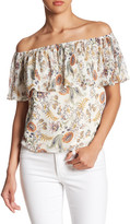Socialite Accordion Off-the-Shoulder Shirt