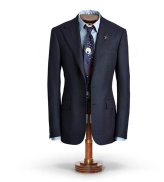Ralph Lauren Wool Peak-Lapel Suit Jacket