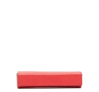 Smythson Panama Set Of Five Poker Dice And Leather Case - Mens - Red