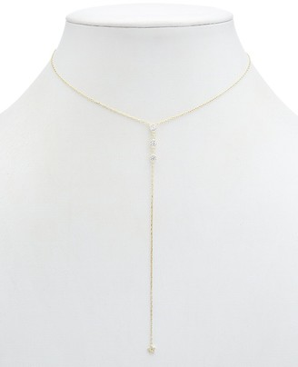 Alanna Bess Limited Collection 14K Over Silver Cz Y Necklace