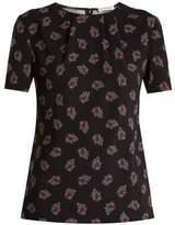 Altuzarra Devan floral-print stretch-cady top