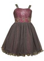 Bonnie Jean Tween Girls Magenta Sequin Bodice Party Dress