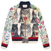 Gucci Patchwork print silk bomber