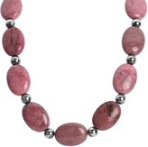 American West Classics Rhodonite Beaded Statement Necklace