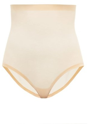 Wolford High-rise Mesh Shapewear Briefs - Nude