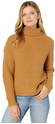 KUT from the Kloth Hailee Long Sleeve Turtleneck Knit Sweater (Camel) Women's Clothing
