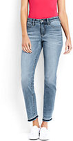 Lands' End Women's Petite Not-Too-Low Rise Slim Jeans-Bayshore Indigo Wash