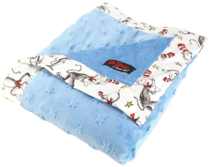 "Trend Lab Dr. Seuss ""The Cat in the Hat"" Blue & White Receiving Blanket by"