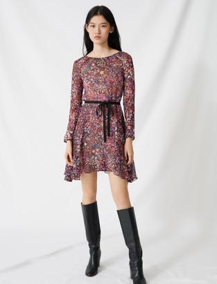 Maje Belted floral dress