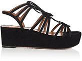 Aquazzura Women's Roma Suede Platform Sandals