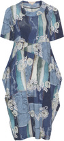 Isolde Roth Plus Size Patchwork look balloon dress