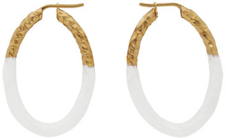 Burberry Gold Enamel Hoop Earrings