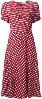 Altuzarra striped ruched detail dress - women - Silk - 34