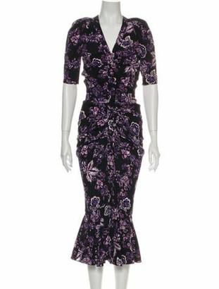 Veronica Beard Kent Midi Length Dress w/ Tags Black