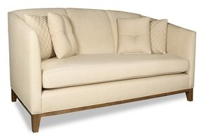 "Tobey 72"" W Flared Arm Sofa Latitude Run Upholstery: Off White"