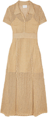 Alice McCall Bijou Bijou Metallic Crochet-knit Midi Dress