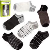 Bundle Monster 6 Pairs Mens Size Line Pattern Low Cut Dry Fit Socks - Set 4