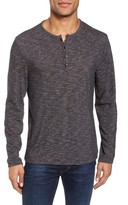 John Varvatos Men's Long Sleeve Slub Knit Henley