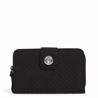 Vera Bradley Microfiber Turnlock Wallet with RFID Protection