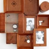 Rustic Leather Boxed Coasters
