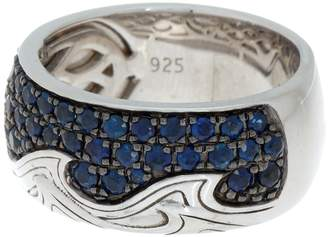 Effy Sterling Silver Sapphire Pave Ring