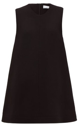 Raey Sleeveless Wool-crepe Trapeze Top - Womens - Black