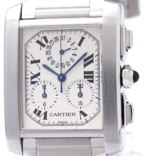 Cartier Tank Francaise W51001Q3 Stainless Steel Quartz 28mm Mens Watch