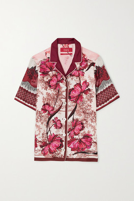 F.R.S For Restless Sleepers Homonoia Floral-print Silk-twill Shirt - Burgundy